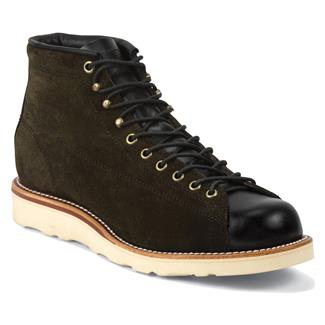 "Chippewa Boots 5"" Original Suede Bridgemen Chocolate Moss"