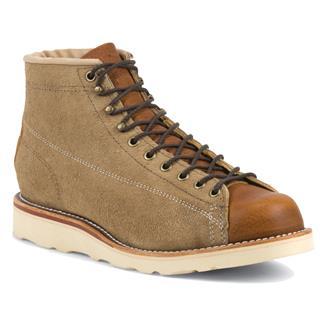 """Chippewa Boots 5"""" Original Suede Bridgemen Khaki Suede"""