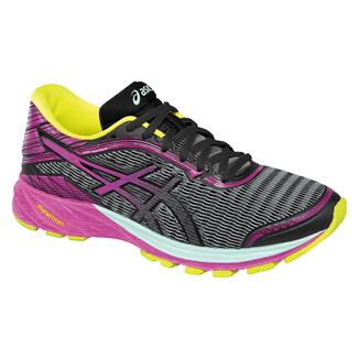 ASICS DynaFlyte Black / Pink Glow / Safety Yellow