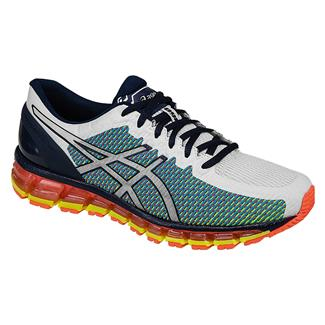 ASICS GEL-Quantum 360 2 White / Dark Navy / Safety Yellow
