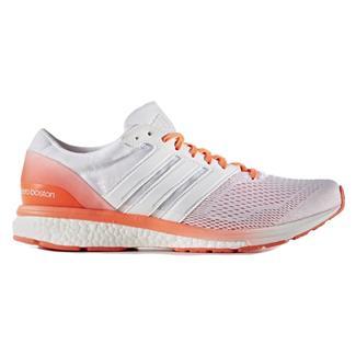 Adidas Adizero Boston 6 White / Solar Red