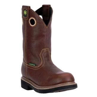 """John Deere 11"""" Pull-On All Around WP Gaucho Brown Toasted Wheat"""