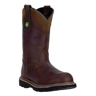 """John Deere 11"""" Pull-On All Around ST Gaucho Brown Toasted Wheat"""