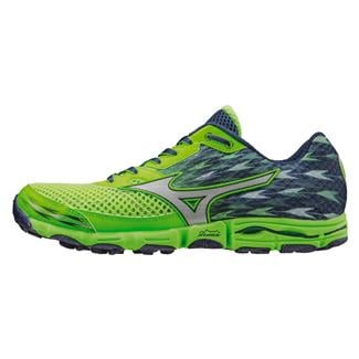 Mizuno Wave Hayate 2 Green Gecko / Blue Depths