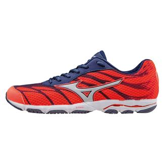 Mizuno Wave Hitogami 3 Fiery Coral / Blue Depths / White
