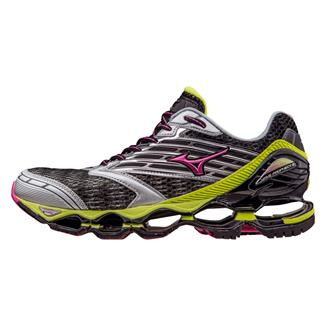Mizuno Wave Prophecy 5 Gunmetal / Fuchsia Purple / Safety Yellow
