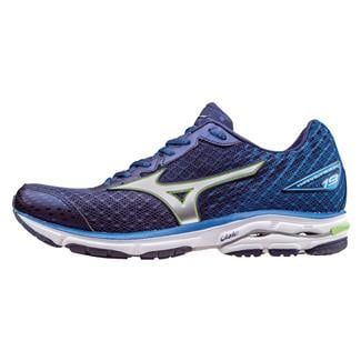 Mizuno Wave Rider 19 Twilight Blue / Green Gecko / Silver