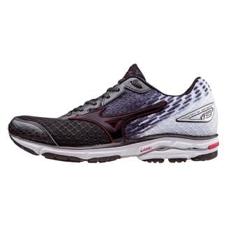 Mizuno Wave Rider 19 Black / High Risk Red / White