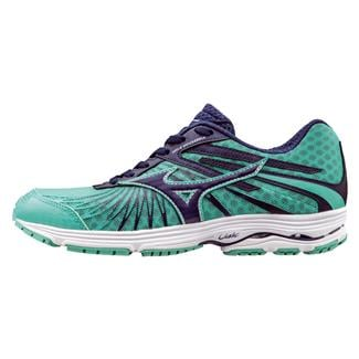 Mizuno Wave Sayonara 4 Blue Depths / Electric Green / Silver
