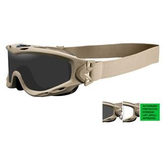 Wiley X Spear (APEL) Tan 499 (frame) - Smoke Gray / Clear (2 lenses)