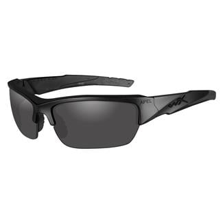 Wiley X Valor (APEL) Black (frame) - Smoke Gray / Clear (2 lenses)