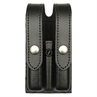 Gould & Goodrich Double Magazine Case Black Hi-Gloss Weave Matte