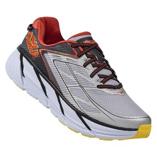 Hoka One One Clifton 3 Gray / Orange Flash
