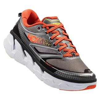 Hoka One One Conquest 3 Gray / Orange Flash