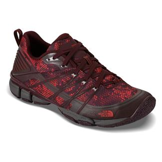 The North Face Litewave Ampere Deep Garnet Red Triangle Party Print / Melon Red