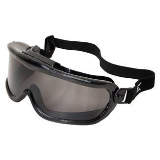 Edge Eyewear Cayesh Safety Goggles Black (frame) / Smoke Gray (lens)