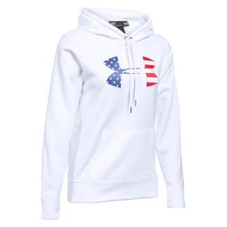 Under Armour ColdGear Big Flag Logo Hoodie White