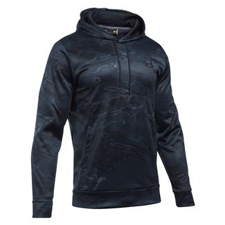 Under Armour Coldgear Camo Hoodie Black Tonal Reaper / Graphite