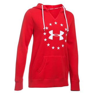 Under Armour ColdGear Freedom Favorite Fleece Hoodie Red / White