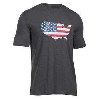 Under Armour Freedom Flag Map T-Shirt Carbon Heather / White
