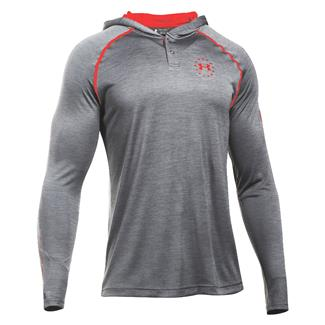 Under Armour Freedom Tech Hoodie Carbon Heather / Red