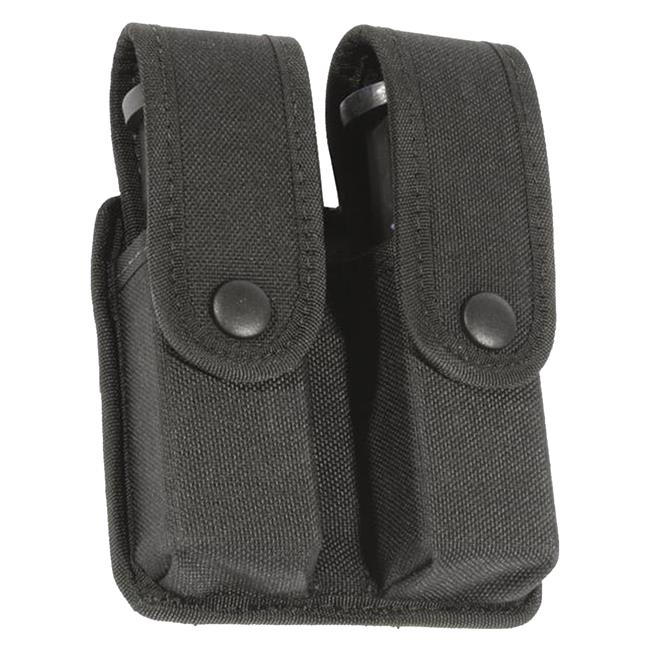 Blackhawk Divided Double Mag Case - Double Row Mag Black