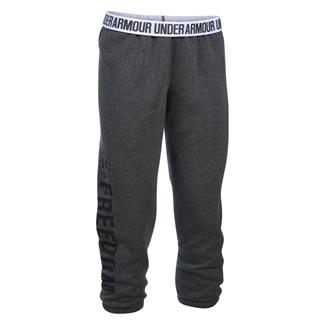 Under Armour HeatGear Freedom Favorite Fleece Capris Carbon Heather / Black