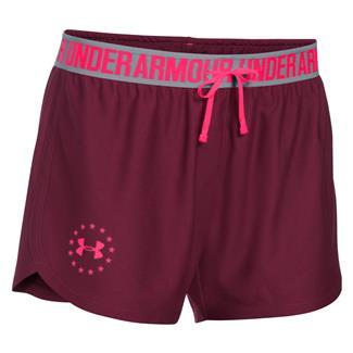 Under Armour HeatGear Freedom Shorts Maroon / Harmony Red