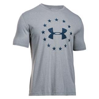 Under Armour HeatGear Freedom T-Shirt True Gray Heather / Academy
