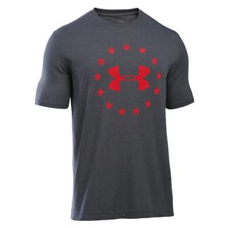 Under Armour HeatGear Freedom T-Shirt Carbon Heather / Red