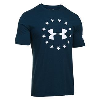 Under Armour HeatGear Freedom T-Shirt Academy / White