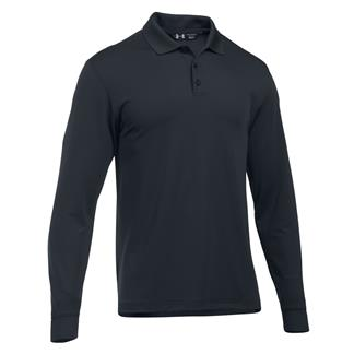 Under Armour Long Sleeve Performance Polo Dark Navy Blue / Dark Navy Blue