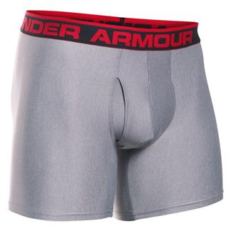"Under Armour Original 6"" BoxerJock Boxer Brief True Gray Heather / Red"
