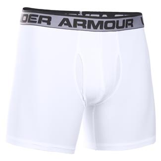 "Under Armour Original 6"" BoxerJock Boxer Brief White / Red"