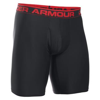 "Under Armour Original 9"" BoxerJock Boxer Briefs Black / Red"