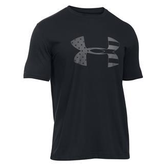 Under Armour Tonal Big Flag Logo T-Shirt Black