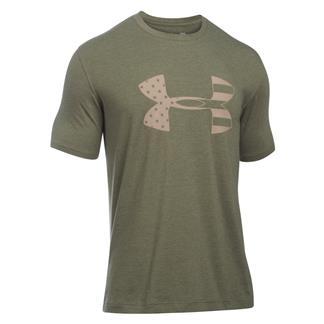 Under Armour Tonal Big Flag Logo T-Shirt Marine OD Green
