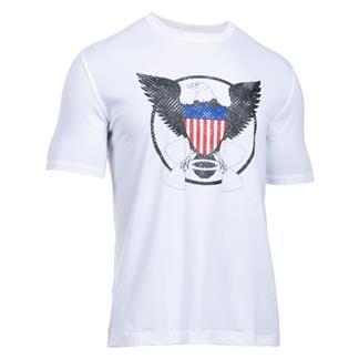 Under Armour USA Eagle T-Shirt White / Black