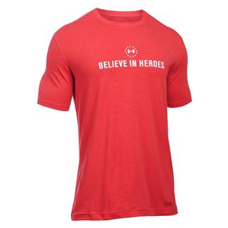 Under Armour HeatGear Believe in Heroes T-Shirt Red / White