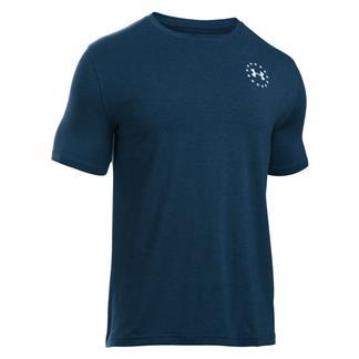 Under Armour HeatGear WWP Freedom Flag T-Shirt Academy / White