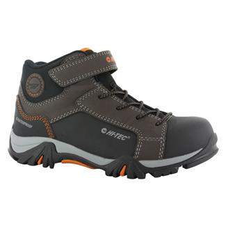 Kids' Hi-Tec Trail OX Mid WP Dark Chocolate / Black / Burnt Orange