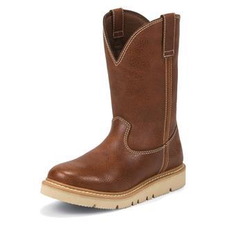 """Justin Original Work Boots 10"""" Worker II Tan Action"""