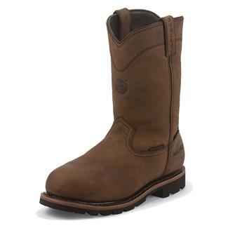 "Justin Original Work Boots 10"" Worker II Round Toe 600G Met Guard CT WP Wyoming"