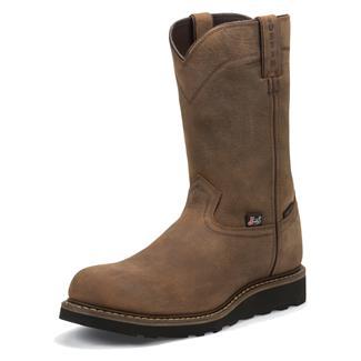 "Justin Original Work Boots 10"" Worker II Round Toe CT Wyoming"