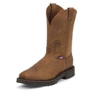 "Justin Original Work Boots 11"" J-Max Caliber Square Toe ST Aged Bark"