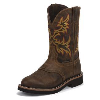 "Justin Original Work Boots 11"" Stampede Round Toe WP Rugged Tan"