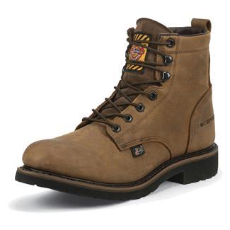 "Justin Original Work Boots 6"" Worker II Round Toe WP Wyoming"