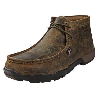 Justin Original Work Boots Premium Moc ST Full Grain Waxy Dark Brown
