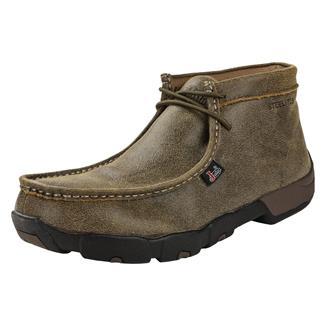 Justin Original Work Boots Premium Moc ST Full Grain Tan Bomber