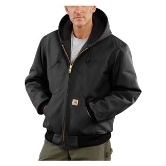 Carhartt Quilted Flannel Lined Duck Active Jacket Black